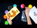 Рисование цветным песком на трафаретах