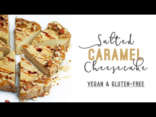 Salted Caramel Tahini Cheesecake Vegan Gluten free