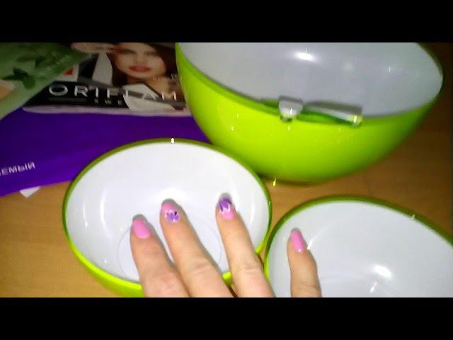 Ой,какая посудка весёленькая!:) И мне почти даром досталась!