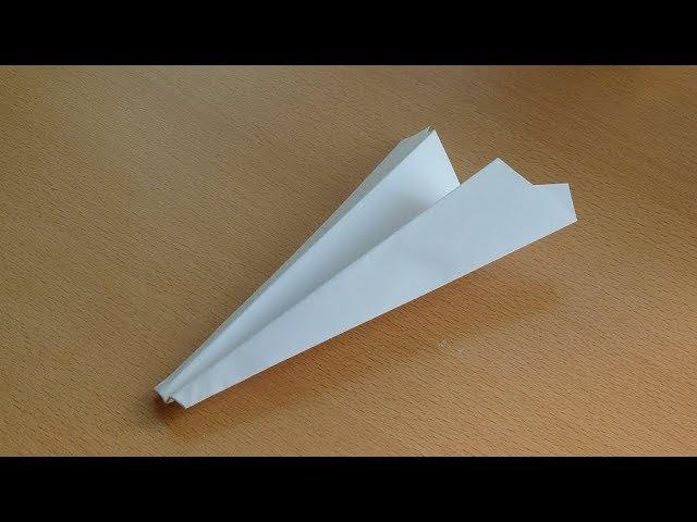 Оригами классический самолёт