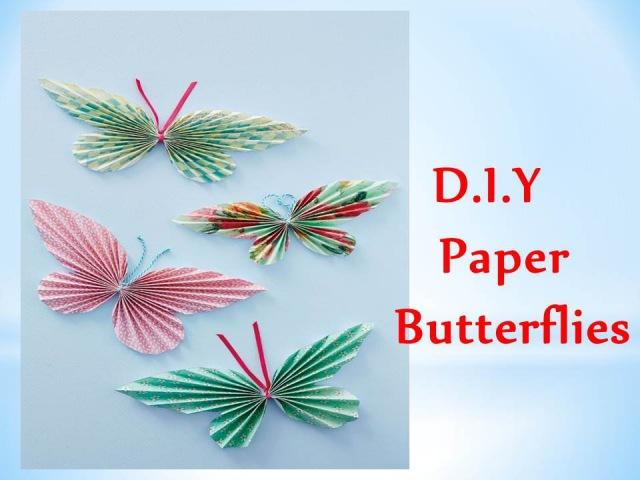 DIY - Бумажные бабочки