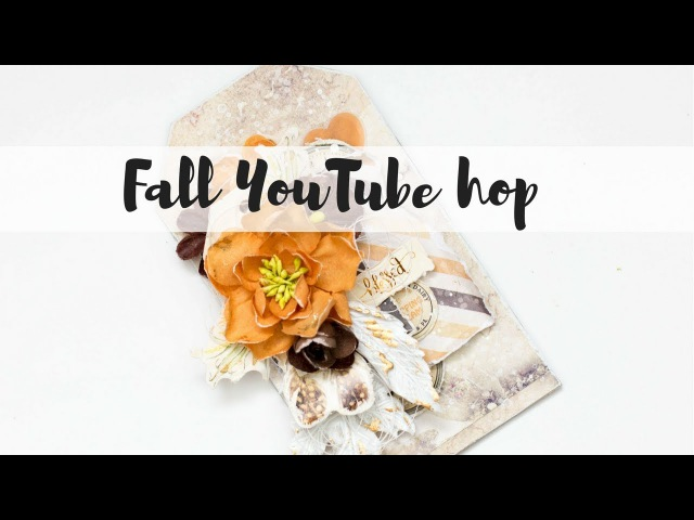 Fall tag tutorial - Fall YouTube hop - Prima Marketing Amber Moon collection