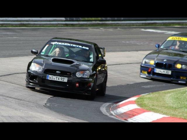 BMW E36 M3 3.0 vs. very fast Subaru Impreza WRX STI / Nürburgring Nordschleife / 21.05.2017