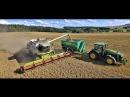 LOBKOWICZ harvest 2017 - Claas Lexion 600, 580, Axion 840, John Deere 8310R, 2x Hawe Uberladewagen