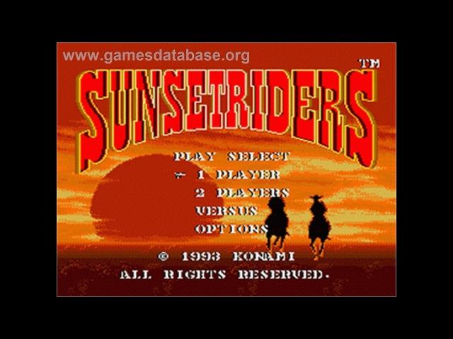 Sunset Riders - Классно Постреляли) (Пройдена)