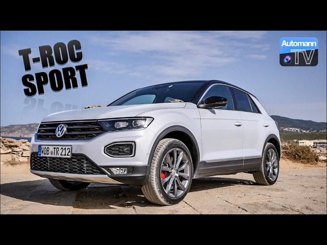 2018 VW T-ROC Sport (190hp) - DRIVE SOUND (60FPS)