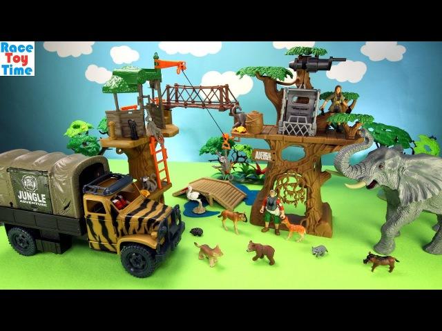 Animal Planet Safari Treehouse Playset Toys For Kids - Learn Animal Names Video