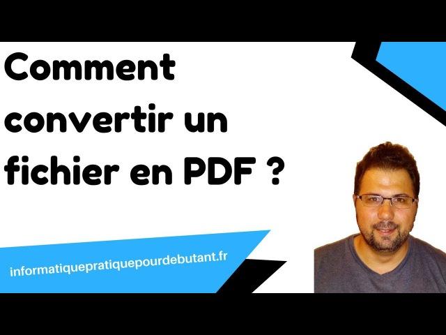 Convertir en pdf