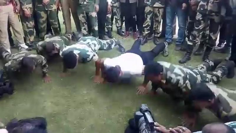 Vidyut Jamwal _ Pushup with BSF Jawan