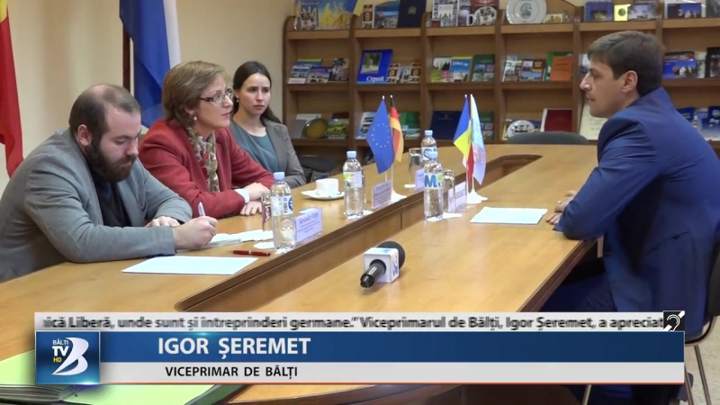 AMBASADOAREA GERMANIEI ÎN MOLDOVA, INTERESATĂ DE ACTIVITATEA PRIMĂRIEI DE BĂLȚI