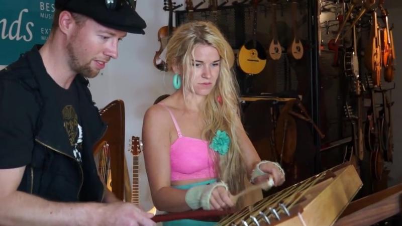Saitentambourin String Tambourine w. Sol Heilo from Katzenjammer 27/12/ 2016