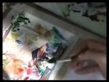 Акварель + акварельные карандаши
