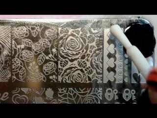 Рисунок с плитки 📌 bornpretty Celebration BPX-L014 ( item ID : 38220)от магазина 👉 @bornprettynailart Стемпинг краской elc