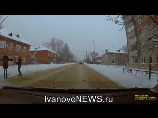 Дети в Иванове перебегают дорогу