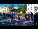 Кронштадт. Традиционный турнир на день ВМФ - перетягивание каната. Учавствует команда АК Петр Великий