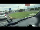 На Иртышском мосту перевернулся автомобиль.incident_uka