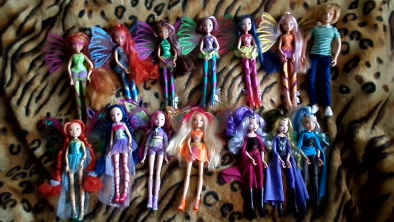 Моя коллекция кукол Винкс 14 штук*Winx Club Dolls