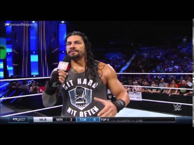 Roman Reigns Rusev Segments WWE Smackdown 8/6/2015