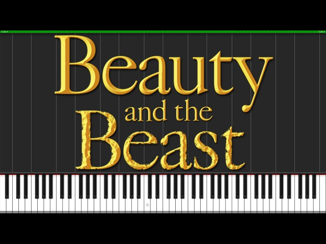 Tale As Old As Time - Beauty and the Beast [Piano Tutorial] (Synthesia) Wouter van Wijhe