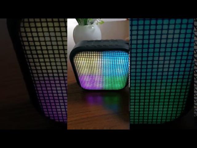 Bluetooth колонка с LED подсветкой - светомузыка для домашних вечеринок!