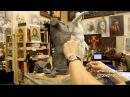 Лепка обрубовки торса 7 Обучение скульптуре Фигура 12 серия