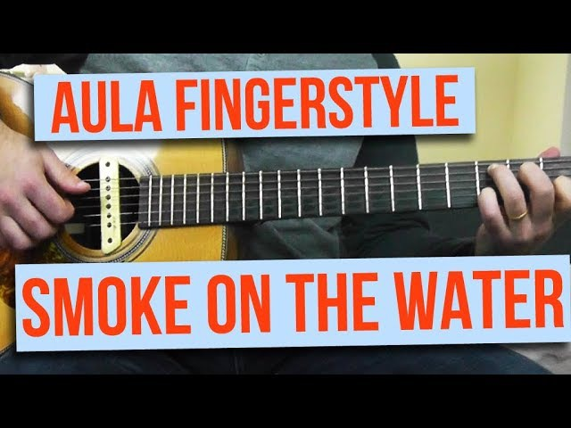 Aula Smoke on the Water Fingerstyle Versão Simplificada com TABS
