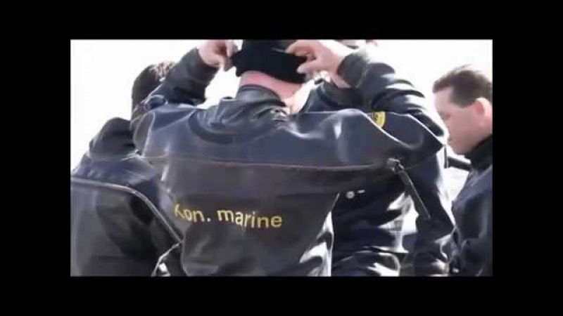 Slo Mo Black Rubber Drysuit Divers in Ship