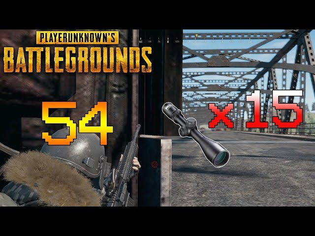 When you're only one with x15 Scope - Best of PUBG 54 Funny/Highlight/Stream/WTF Moments