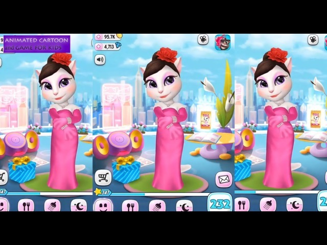 My Talking Angela 🐱 Gameplay 232 level Makeover Great for Children HD Кошечка Анжела Kids Games