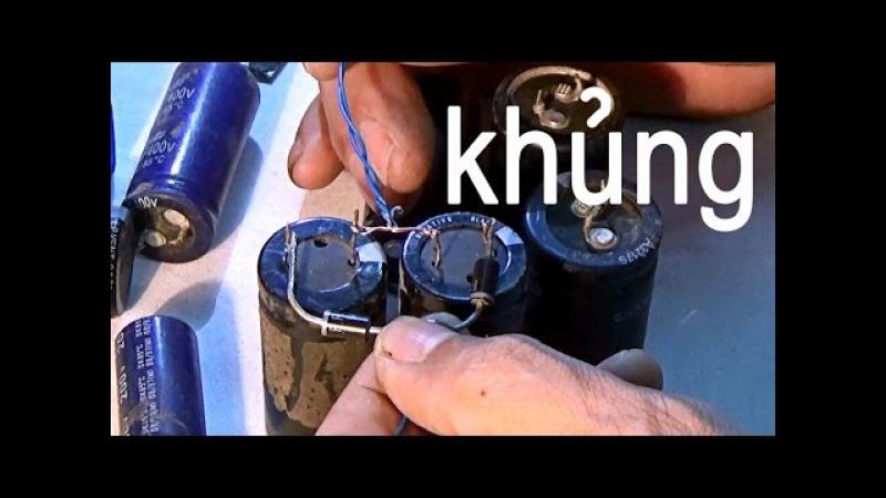 Bộ nhân đôi điện áp khủng, cách làm bộ nhân áp cho máy phun sương tự chế