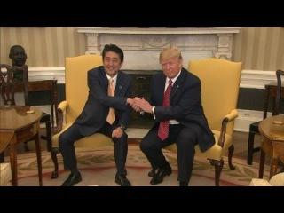 Trump's awkward handshakes with world leaders