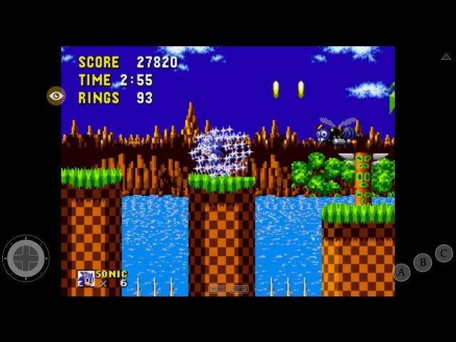 Прохождение Sonic the hedgehog (Sega Megadrive) 1 часть на планшете