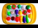 Impara i Nomi di Frutta e Verdura Giocando Set di Giocattoli con Velcro da Tagliare Per bambini