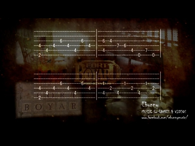 Fort Boyard - Main Music Theme [Full Acoustic Guitar Tab by Ebunny] Fingerstyle How to Play