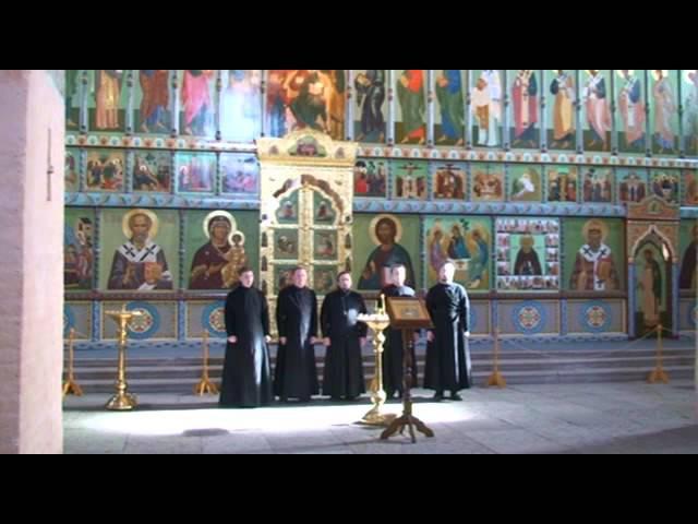 Достойно есть Византийского распева Антем в Свири соло Олег Семенов