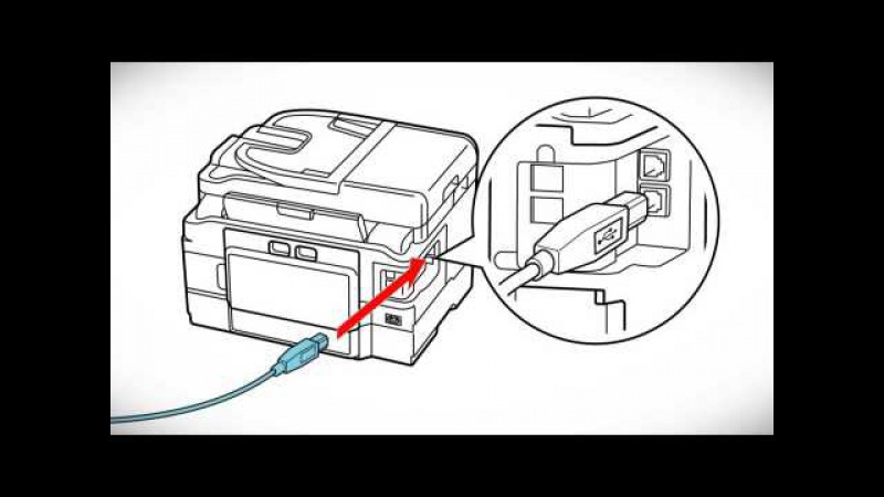 Epson WorkForce WF-3620: Wireless Setup Using a Temporary USB Connection