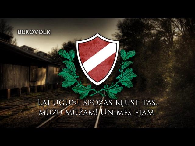 Latvian SS Legion Song Teufelslied Latvian version of SS Marschiert in Feindesland