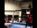 Разрушительный встречный удар в боксе.