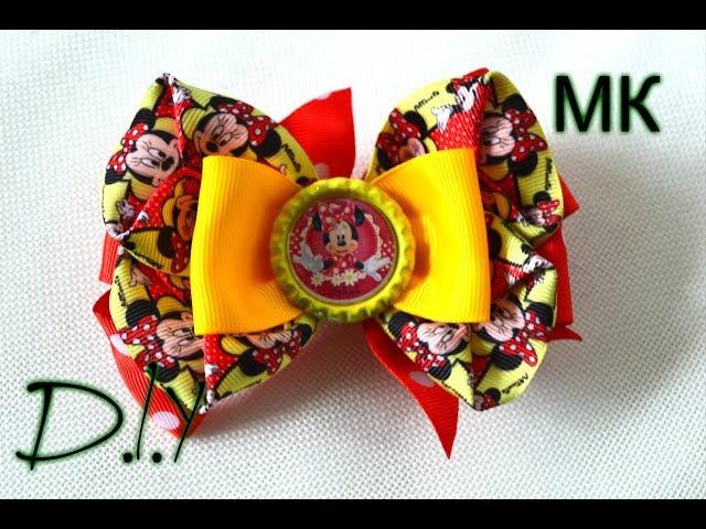 Мультяшные бантики/Для маленьких красавиц/Bows kanzashi Minnie Mouse
