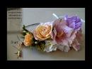 Веночек из цветов из фоамирана Василиса