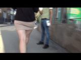 SEXy Girl ! Girl In Mini Skirt ! Сексуальная девушка в короткой юбке и ШИКарной попой !!! Part One