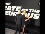 Рози и Джейсон на премьере фильма Форсаж 8 в Нью-Йорке, 8 апреля 2017