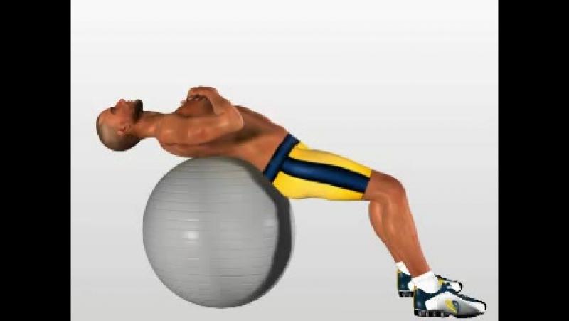 Passion4Profession Упражнение на пресс с фитболом