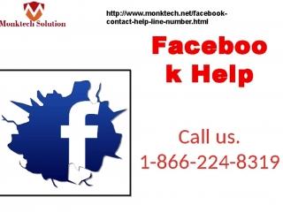 Get Instant Facebook Help at your Doorstep 1-866-224-8319
