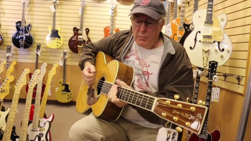 Bill Lynch sings Standing on the Edge of Love at Normans Rare Guitars