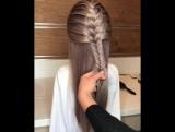 Красивое плетение для длинных волос