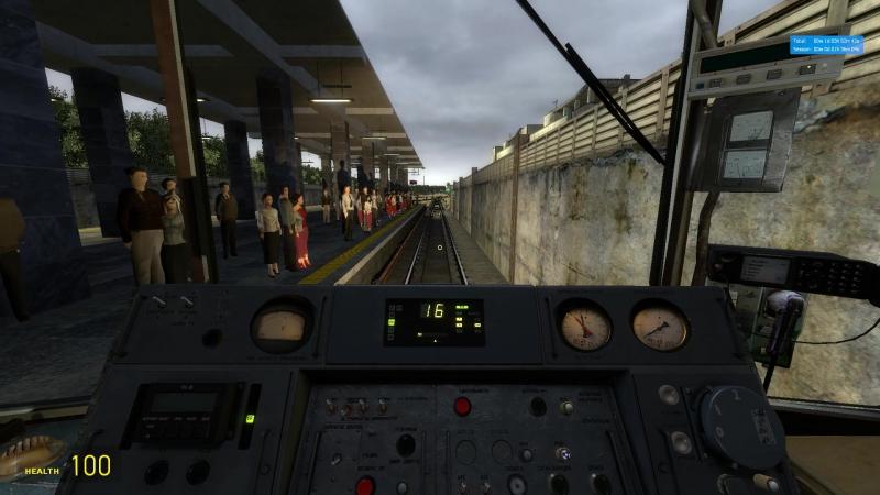 Metrostroi Речная - Международная (Удачно проёбываем рейки)