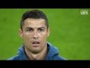 Роналду поёт гимн Лиги чемпионов