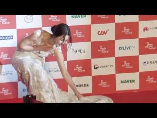 남규리, '아찔한 드레스 위태위태했던 순간' (전주국제영화제)