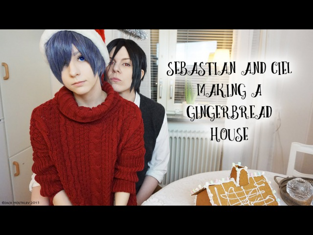 ☆ Sebastian And Ciel Making One Hell Of A Gingerbread House ☆